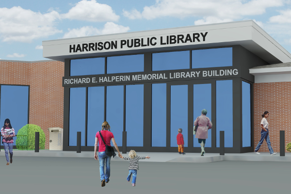 Rendering of the Richard E. Halperin Memorial Library Buiilding