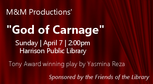 performers from M&M Productions' God of Carnage