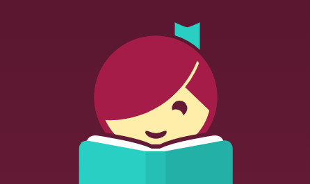 Logo of a girl reading a book