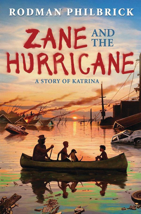 A book cover for Zane and the Hurriane