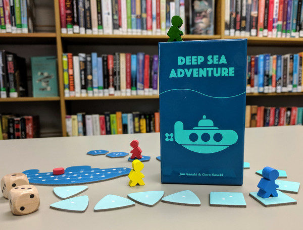 Board game Deep Sea Adventure on display.