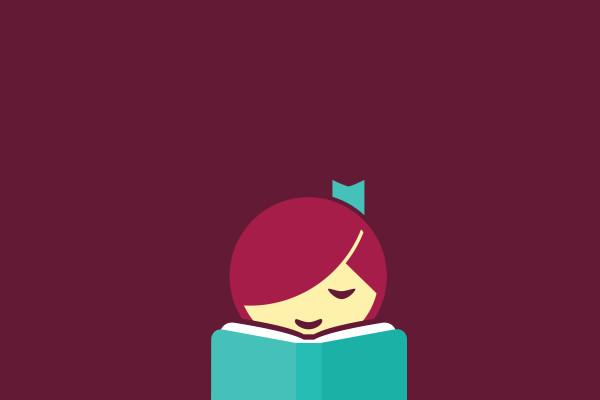 Logo of a girl reading a book
