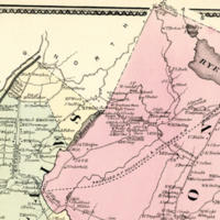 Closeup of The Hills Community as Shown in 1867 Beers Map.