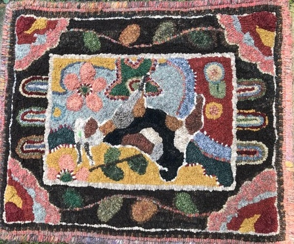 Textile Art Rug Hooking Demonstration